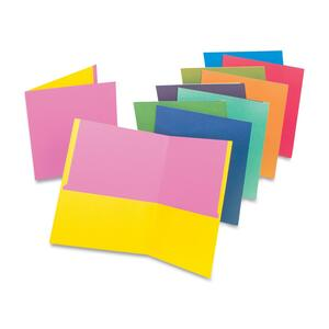 "Esselte Twisted Twin Pocket Folder - 8.5"" x 11"" - Letter - 50 / Carton - Assorted"