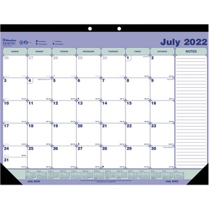 "Rediform Desk/Wall Calendar - Monthly - 21.25"" x 16"" - July till July - 1 Month Per 1 Page(s) - White"