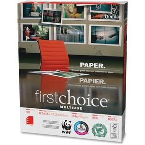 Domtar Punched First Choice MultiUse 3-Hole Premium Paper DMR85771