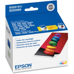 Epson Tri-color Ink Cartridge - Inkjet - 300 Page - Cyan, Magenta, Yellow - 1