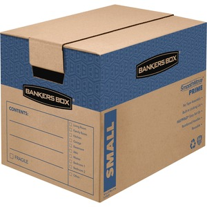 "Bankers Box SmoothMove Moving Box - Internal Dimension 12"" Height x 12"" Width x 16"" Depth x - External Dimensions 12.62"" Height x 12.38"" Width x 17.25"" Depth - Kraft - Brown"