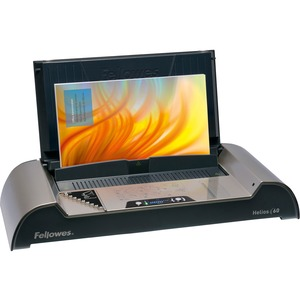 "Fellowes Helios 60 Binding Machine - Electrical - Thermal Binding - 600 Sheet(s) Bind - 3.94"" x 21"" x 9.44"" - Platinum, Graphite"