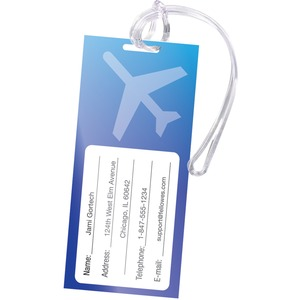 Fellowes Self-Adhesive Pouches - Luggage Tag with Loop, 5 pack FEL5220301