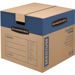 "Bankers Box SmoothMove Moving Box - Internal Dimension 16"" Height x 18"" Width x 18"" Depth x - External Dimensions 16.62"" Height x 18"" Width x 18.75"" Depth - Kraft - Brown"