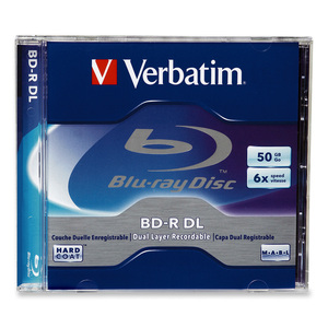 Verbatim 96911 Blu-ray Recordable Media - BD-R DL - 6x - 50 GB - 1 Pack Jewel Case VER96911