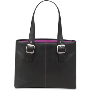"Solo Classic Carrying Case (Tote) for 16"" Notebook - Black, Magenta USLK708412"