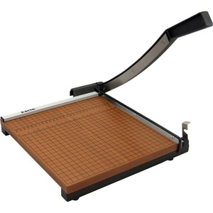 "Elmer's Square Heavy Duty Paper Trimmer - Cuts 12 Sheet - 12"" Cutting Length - Steel Cutting Head, Wood Base - Black, Brown"
