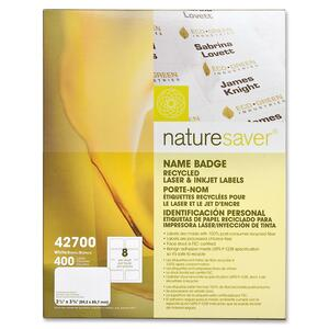 Nature Saver Name Badge Label NAT42700