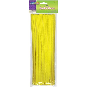 "ChenilleKraft Jumbo Stem - 6mm x 12"" - Yellow"