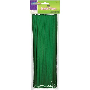"ChenilleKraft Jumbo Stem - 6mm x 12"" - Green"