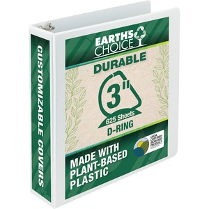 Samsill Earth's Choice Biodegradable D-Ring View Binder SAM16987