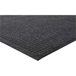 Genuine Joe Eternity Mat - 6' Length x 4' Width - Plastic, Rubber - Charcoal Gray