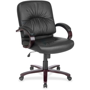 Lorell Woodbridge Series Managerial Mid-Back Chair LLR60339