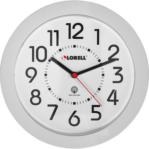 Lorell Round Profile Radio Controlled Wall Clock - Quartz - Atomic