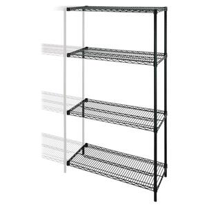 Lorell Industrial Wire Shelving Add-On-Unit LLR69137