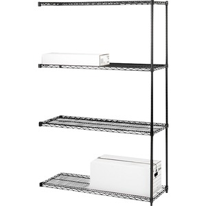 4-Tier Industrial Wire Shelving Add-On-Unit