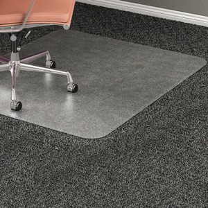 "Lorell Rectangular Chair Mat - 60"" Length x 46"" Width x 0.5"" Thickness Overall - Clear"
