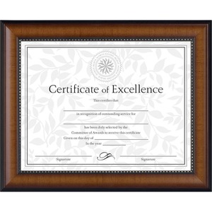 Black . Gold Trim. Document Frame