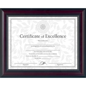 Rosewood Document Frame