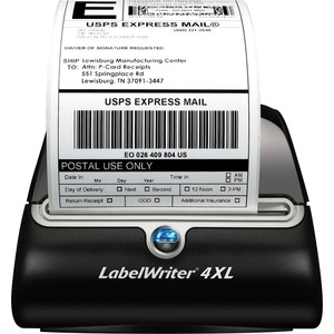 Dymo LabelWriter 4XL Label Printer - Monochrome - 3.2 in/s Mono - 300 dpi - USB - Ethernet