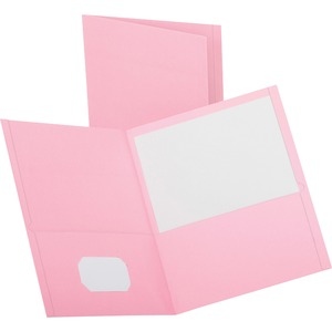 "Esselte Twin Pocket Report Cover - 8.5"" x 11"" - Letter - 25 / Box - Pink"