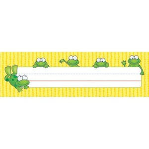 "Carson-Dellosa Frogs Design Desk Name Plate - ""Customizable - 9.5"" x 2.87"" - Assorted"