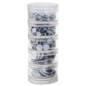 ChenilleKraft Stacking Jar Wiggle Eye - 560 Piece(s) - Assorted