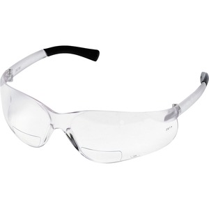 Mcr Safety Bearkat Magnifier Eyewear - Ultraviolet Protection - Polycarbonate Lens - Clear, Black - 1 Each