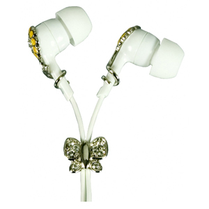 Logic3 Crystal Sound Flower Butterfly Earphone