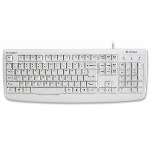 Kensington Pro Fit Washable Keyboard USB PS/2 - White - Brown Box