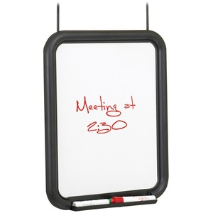 Safco Products Safco Melamine Panel Dry Erase Markerboard With Tray - 11 (0.9 Ft) Width X 14 (1.2 Ft) Height - Melamine Surface - Charcoal Frame - 1 / Each