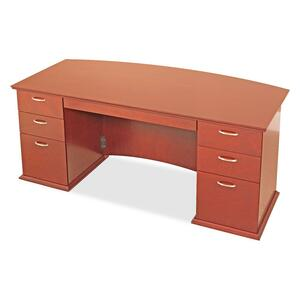 Lorell Contemporary 9000 Bow Front Desk LLR90001