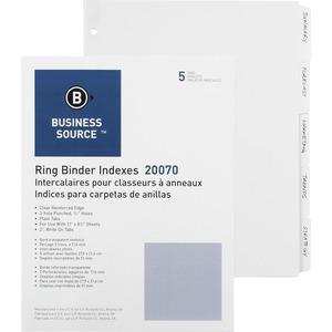 3-Ring Plain Tab Divider