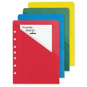 ColorLife 7 Hole Punched Slash Pocket