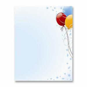 83174 Balloons Design Stationery Paper