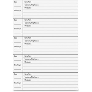 46215 Voicemail Log Book