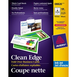 Folded Two-Side Printable Clean Edge Business Card