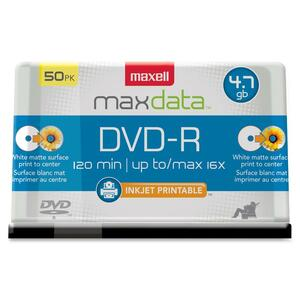Maxell DVD Recordable Media - DVD-R - 16x - 4.70 GB - 50 Pack Spindle - Bulk MAX638022