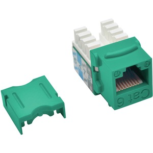 CAT6/CAT5E 110 STYLE PUNCH DOWN KEYSTONE JACK GRN