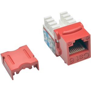 CAT6/CAT5E 110 STYLE PUNCH DOWN KEYSTONE JACK RED