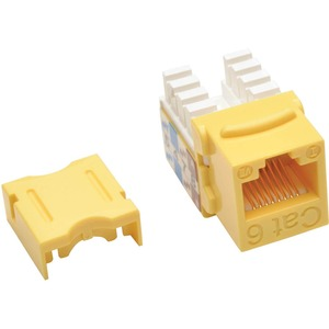 CAT6/CAT5E 110 STYLE PUNCH DOWN KEYSTONE JACK YLW