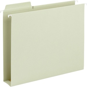 "Smead FasTab 64201 Hanging Box Bottom Folder - Letter - 8.5"" x 11"" - 1/3 Tab Cut on Assorted Position - 2"" Expansion - 20 / Box - 11pt. - Moss"