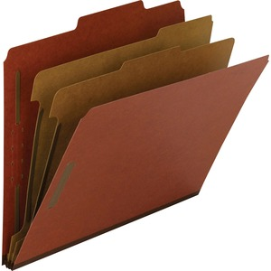 14024 Red 100% Recycled Pressboard Colored Classification Folder