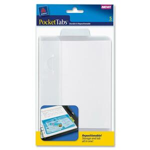 Avery PocketTabs Half Page Tab Divider AVE16365
