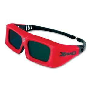 Red. Black. 3d Glasses