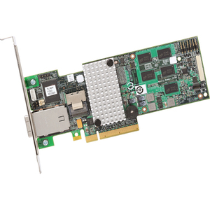 Intel Controller Card RS2MB044 4 INT 4 EXT Ports SAS SATA PCI-E2X8 512M MD2 Low Profile Retail