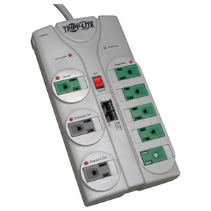 TRIPP LITE 8FT ECO SURGE PROTECTOR GREEN 8OUT TEL/DSL CORD 2160 JOULES