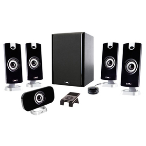 Cyber Acoustic CA-5402 5.1 5-PIECE Flat Panel Design Subwoofer & Satellite Speaker System