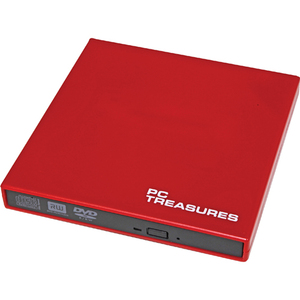 Digital Treasures 07184 External DVD-Writer - Retail Pack - Red 07184
