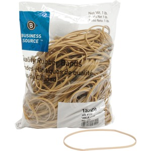 "Business Source Quality Rubber Band - Size: 117B - 7"" Length x 0.12"" Width - Sustainable, Biodegradable - 1 Bag - Rubber - Crepe"